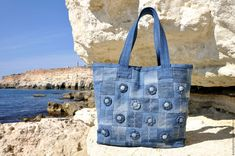 beautiful jeans patchwork tote