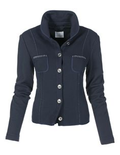 Jersey blazer in the color navy - blue - in the MADELEINE online collection
