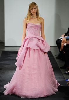 Think Pink: Blushing Brides in Pink Wedding Gowns is 2014's Hottest Bridal Trend - Wedding Party
