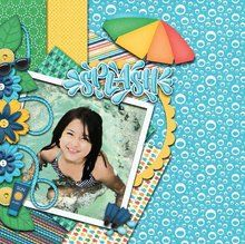 Summer Moments Like This 12x12 Layout Templates
