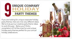 If you are looking for unique corporate holiday party themes, here are nine very different ideas that will get your group into the holiday spirit. Christmas Party Themes, Office Holiday Party, Xmas Party, Holiday Parties, Office Christmas, Office Parties, Company Party, Event Planning, Software