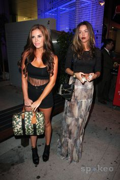 Brittany Binger and Kayla Collins of the upcoming film 'School Dance' outside BOA Steakhouse. Los Angeles, California - 27.06.12.