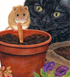 АССОРТИ: Без кота и жизнь не та... Художница Энн Мортимер (Anne Mortimer). от Матрешки
