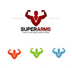 Super Arms Logo (Vector EPS, AI Illustrator, Resizable, CS, arm, athletic, bodybuilding, bold, Cross Fit, crossfit, energy, exercises, fitness, force, guard, gym, health, life, logo, logo design, logo template, man, masculine, medal, nutrition, power, protection, shield, sport, strong, training, unique, wak graphic, workout)