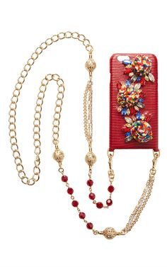 Lizard I Phone Case With Chain by DOLCE & GABBANA for Preorder on Moda Operandi
