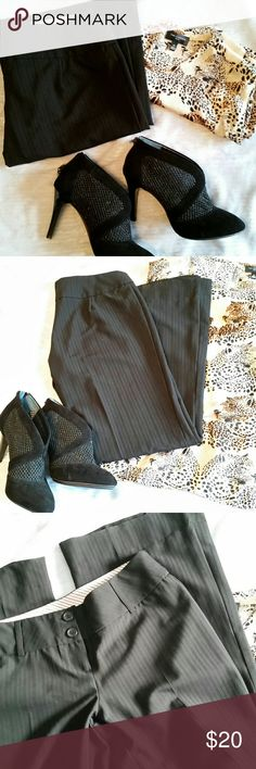 Black pinstriped trouser Size S EUC Excellent condition dressy black pant in Size S. Poetry brand. Pinstriped. Poetry Pants Trousers