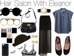"""""""Hair Salon With Eleanor"""" by wtftowear ❤ liked on Polyvore"""