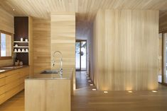 Recessed up lighting - La Luge / YH2 Architecture