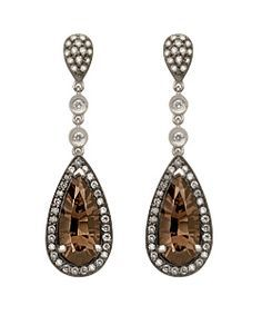 Image result for chocolate diamond earrings dangle