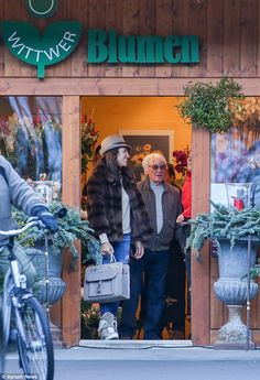 Winter outing: Bernie Ecclestone, 85, and his wife Fabiana Flosi, 38, escaped the F1 boss'...