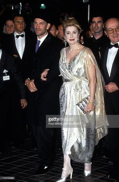 Cannes Film Festival in Cannes, France in May, 1996 - Catherien Deneuve (in a beige dress) and John Malkovitch (black suit and french 'beret').