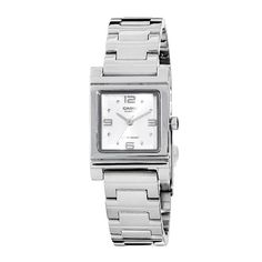 Casio Women's LTP1237D-7A Silver-Tone Shell White Dial Watch $20.76