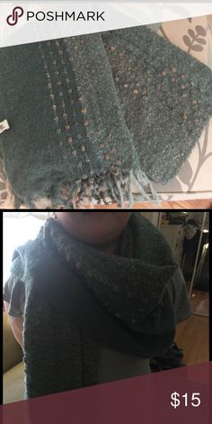 Green scarf. Worn once. 100% polyester. So pretty. simply noel Accessories Scarves & Wraps