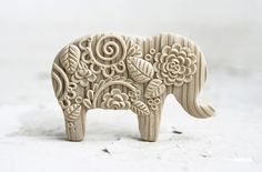 Polymer clay elephant