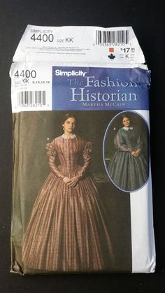Simplicity 4400 The Fashion Historian Martha McCain 2005 Size KK Uncut Civil War #SImplicity