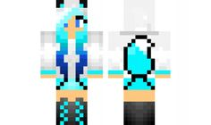 minecraft skin Ice-Wolf-Girl Find it with our new Android Minecraft Skins App: https://play.google.com/store/apps/details?id=the.gecko.girlskins