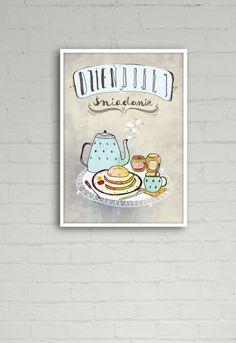 obrazy i inne - grafika-Śniadanie - B2 (50x70 cm)