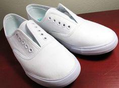 White Keds, no laces.