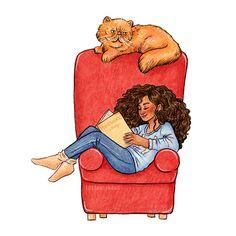 Women Reading - susannedraws:   Inktober day 5  Hermione Granger...