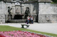 The sundial fountain at Powerscourt Gardens in beautiful County Wicklow, Ireland www.powerscourt.ie