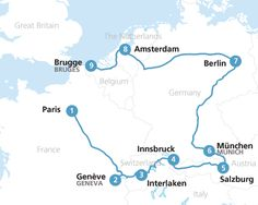 Head to Western Europe with a #Eurail pass and be amazed by how much you can see by train on a single vacation.