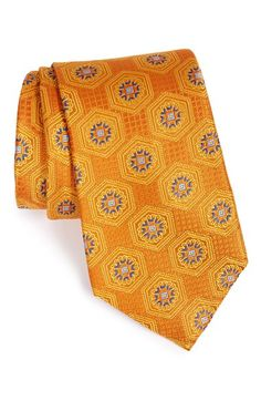 Nordstrom Hexagon Medallion Silk Tie