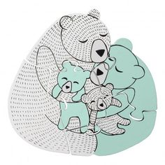Bloomingville Bear Family Puzzle -product