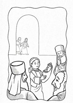 lesson 41 the boy jesus in the temple scroll coloring page