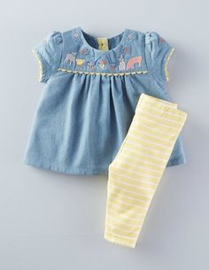 dc5e446e672c4 Embroidered Play Set 76059 Clothing at Boden $45 Baby Girl Tops, Baby Girls  Clothes,