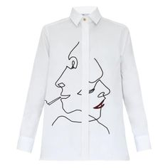 Faces Embroidered Shirt   My Pair of Jeans   Wolf & Badger