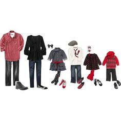 This still says Holiday, but will look great as a Family Portrait to display all year round. Family Outfit Ideas | Holidays | Red |