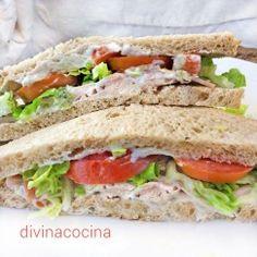 Sándwich de pollo, varias recetas