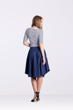 "Spódnica z zakładkami ""ala jeans"" - Ynlow-Designed - Spódnice z koła Tulle, Jeans, Skirts, Etsy, Fashion, Moda, Fashion Styles, Tutu, Skirt"