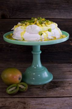 Add a bit of sunshine to your holiday menu with this pavlova and tropical fruit and passionfruit curd dessert.