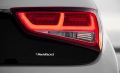 2012 Audi A1 Quattro badge and taillight