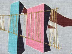 Our Retro Atomic Jetson Barkcloth Fabric Curtains