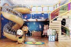 Toy Story Zimmer, Disney Magic Ship, Diy Zelt, Toy Story Room, Andys Room Toy Story, Deco Disney, Disney Bedrooms, Toy Rooms, Disney Home