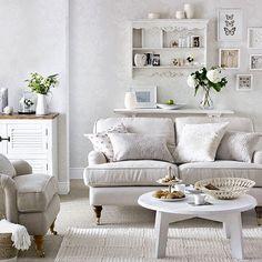 Decorative neutral living room | Living room decorating | Ideal Home | Housetohome.co.uk