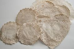 Coffee died doilies! Perfect for vintage crafting, will try this with breakfast tomorrow me thinks.