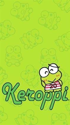 Keroppi Wallpaper, Kawaii Wallpaper, Tumblr Wallpaper, Colorful Wallpaper, Wallpaper Keren, Hello Kitty Characters, Sanrio Characters, Hello Kitty My Melody, Sanrio Hello Kitty