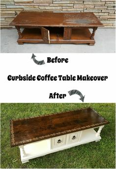 a guest post from Repurposing Junkie, Curbside Coffee Table Makeover theboondocksblog.com