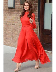 Orange Maxi Dress | Long sleeves  |  tags: hijab fashion, hijab outfit, hijab style, hijab inspiration
