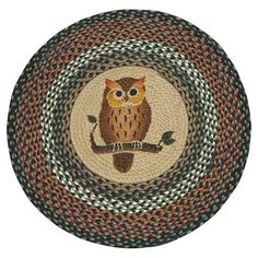 Owl Printed Area Rug