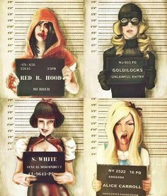 I thought this was quite funny... If Disney princesses were arrested