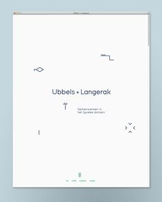 Website - Ubbels + Langerak - by Studio 2 ONS