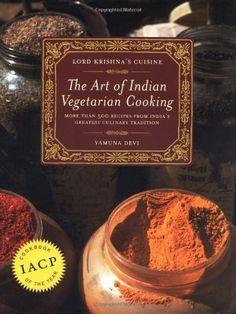 Lord Krishna's Cuisine: The Art of Indian Vegetarian Cooking by Yamuna Devi, http://www.amazon.com/dp/0525245642/ref=cm_sw_r_pi_dp_fI7Gpb0AWWGMX
