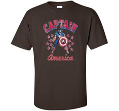 Classic Captain America Stars Graphic T-Shirt