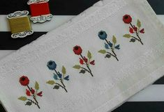 Cross Stitch Embroidery, Cross Stitch Patterns, Bargello, Photo Craft, Bath Linens, Drop Cloths, Embroidered Towels, Embroidery Techniques, Border Tiles