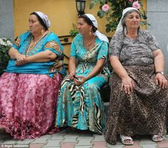 Gypsy leader: Roma Gypsy women in traditional dress at wake for their late King this week