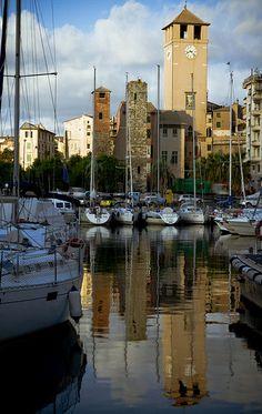 Harbor of Savona, Liguria, Italy